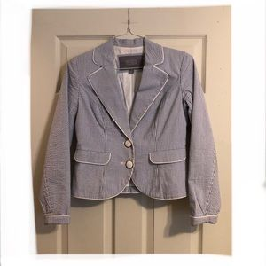 Merona Blue & White striped Blazer